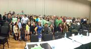 A group shot from Startup Weekend Tampa Bay at USF St. Petersburg.