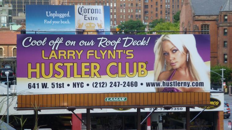 Hustler strip club and ny