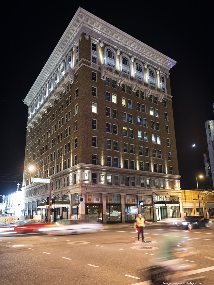The 10-story Luhrs Building was sold.