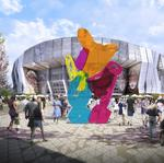 Colorful sculpture selected for plaza outside downtown arena