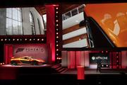 A McLaren sports car is unveiled during an announcement for the Microsoft Corp. Xbox One Forza Motorsport 5 game at an E3 media briefing in Los Angeles on June 10, 2013. The game is intended as one of the first for Xbox's next gaming console.