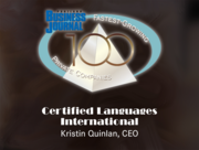 #96: Certified Languages InternationalGrowth: 46.08%Local senior executive: Kristin Quinlan, CEO