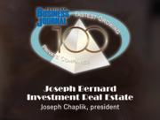 #45: Joseph Bernard Investment Real EstateGrowth: 117.26%Local senior executive: Joseph Chaplik, president