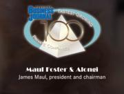 #73: Maul Foster & AlongiGrowth: 73.97%Local senior executive: James Maul, president and chairman