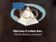 #60: Sherpa Design Inc.Growth: 92.52%Local senior executive: Patrick Barrett, president