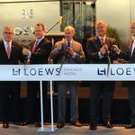 Loews Chicago Hotel opens on a cold Monday morning