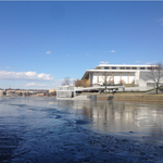 More renderings of Kennedy Center's river pavilion, final vote pushed back