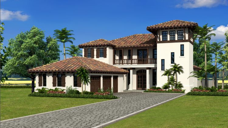 New enclave of million dollar homes in the works for avila for Spanish eclectic architecture