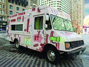 The Bacon Truck, one of the lunchtime food vendors at Dewey Square in the Financial District. Currently the truck is there Wednesdays, but switches to Mondays in April.
