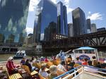 Ahoy! — first sure sign spring has sprung now arriving on Chicago River
