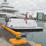 Billionaire Larry Ellison's Musashi mega-yacht docked at Honolulu's Kewalo Basin Harbor: Slideshow