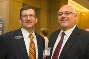 Keith Marchiano, vice president of sales, Tier One Technologies Partners; Mark Corsi, solutions specialist, Laser Line, Inc. The Baltimore Business Journal hosted its Healthiest Employers breakfast at the Hotel at Arundel Preserve.