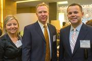 Rebecca Myers, director of wellness, United Healthcare; Richard Perrier, vice president of account management, UnitedHealthcare; Ben Goldstein, public relations director, UnitedHealthcare. The Baltimore Business Journal hosted its Healthiest Employers breakfast at the Hotel at Arundel Preserve.