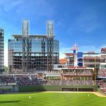 Comcast takes its position in outfield at SunTrust Park