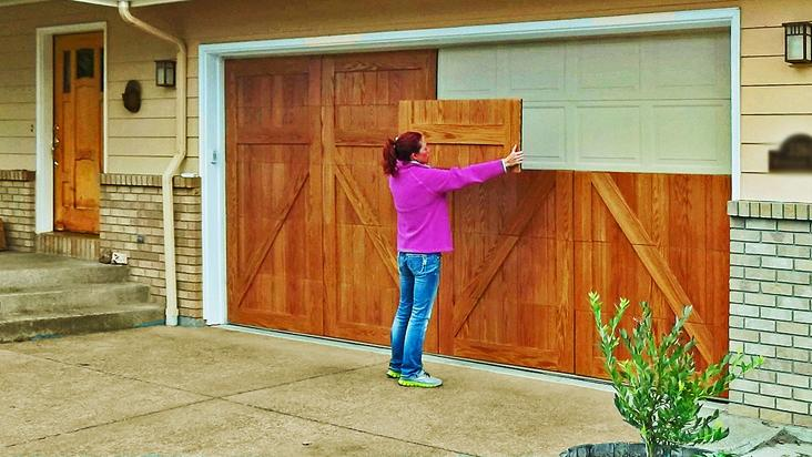 Garageskins Are Magnetic Panels That Snap To The Exterior Of A Garage Door They