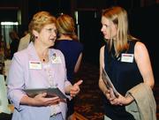 Excela Health's Diana Flinn, left, and Betsy Hardin of 4moms.