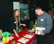 Katie Dallaba of the Leukemia & Lymphoma Society and Chad Pearce of 4CTechnologies.