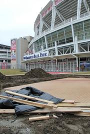 Crosley Plaza is being redone so it can host bands and other events.