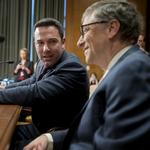Why were Ben Affleck and Bill <strong>Gates</strong> talking to Congress about foreign aid?