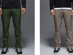 The three men's pant colors that are in this spring