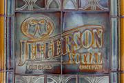 The tiles at Jefferson Social were made by Rookwood Pottery.
