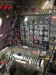 The flight engineer's station. He took care of the aircraft's four engines and other systems.