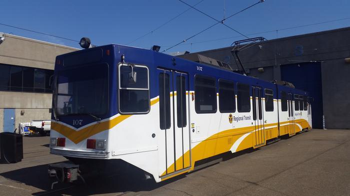 Sacramento Regional Transit is sprucing up its image, including adding vinyl skins on light-rail cars.