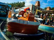 Legoland Florida has kids christen one of the boats for its World of Chima.