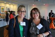 Michele Weatherly, left, of the Northern Virginia Technology Council, with Natalie Oddenino of Helios HR.