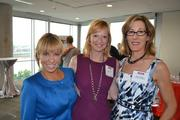 From left, Nicole Quiroga of Telemundo, Washington, D.C., Abby Fenton of WJLA-Channel 7 and Mary Abbajay of Careerstone Group.
