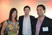 From left, Amanda Fischer of Grade A Marketing, Reid Snyder of InTheCapital and Borzou Azabdaftari of Falcon.