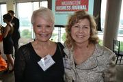 Cynthia Lorenzi, left, of Success in the City, with Norine Walker of Sabra, Wang & Associates.