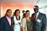 From left, Marquis Perkins of Destination D.C.; Angela Franco, CEO of the Greater Washington Hispanic Chamber of Commerce; Robin McClain of Destination D.C.; and Elliott Ferguson, CEO of Destination D.C.