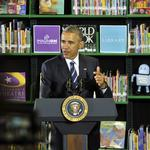 In local visit, Obama touts equal pay