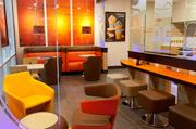 """The Dunkin' Donuts """"Jazz Brew"""" store format."""