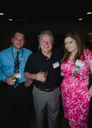 From left: Mark Schwarz of CFL Printers, Tom Reinheimer of the Duquesne Incline, and Ashley Steckel - VisitPittsburgh