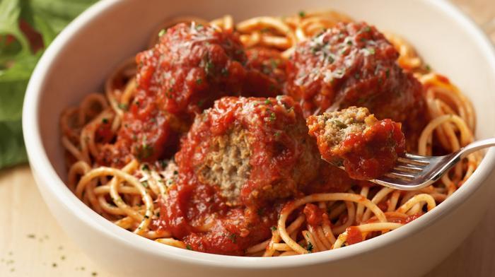 Carrabba's Italian Grill's spaghetti and meatballs.