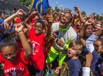 Charlotte students get pumped at Cam Newton's School Pride Day (PHOTOS)