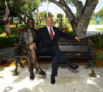 NSU unveils statue of H. Wayne Huizenga -- slideshow