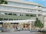 A rendering showing the new entrance of Marin General Hospital's planned new $534 million hospital building, slated for completion in late 2019 or early 2020.