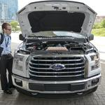 Ford unveils the CNG F-150 that will be modified in Dallas