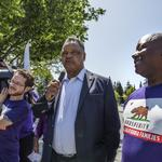 Tech company targeted by Jesse Jackson, unions over contract security guards in Santa Clara protest (Photos)