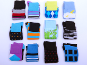 Some of the socks offered by Weston-based startup Zing Sock Club.