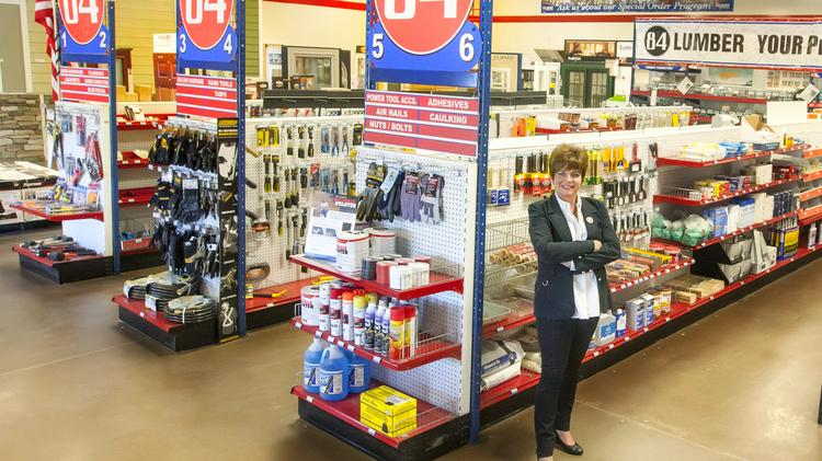 84 Lumber President Maggie Hardy Magerko In One Of The Companys Stores