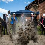 Image of the day: Flinging dirt during groundbreaking ceremony for Raleigh's Union Station