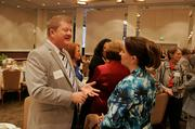 Sixteen businesswomen were honored for their leadership and commitment to the community at the 2013 Women Who Mean Business event. Here attendees mingle.