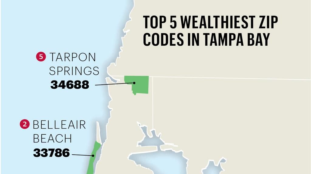 Top of the List: Pinellas County boasts Bay area\'s wealthiest ZIP ...