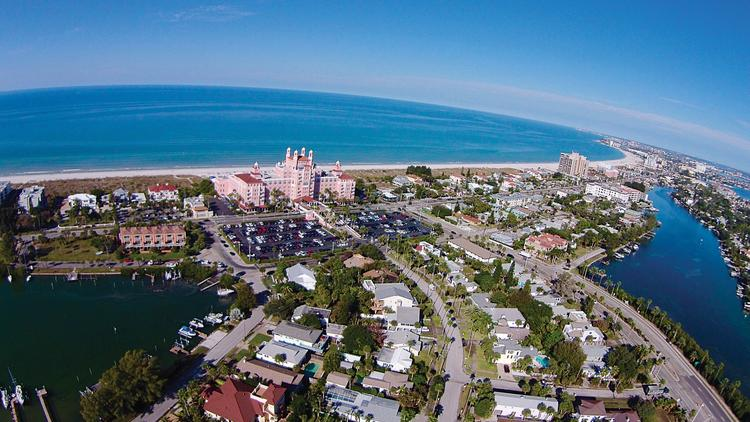 Aerial Shot Of St Pete Beach