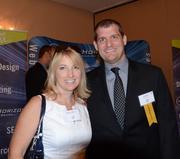 Michelle Billhartz of Symantec and C-Level honoree Harry Ellis III of Next Horizon