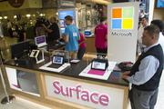 "Microsoft's newest ""specialty store,"" essentially a kiosk, opened in the Pacific Place mall in Seattle on Friday, showcasing the Surface tablet, Windows Phone and other products."